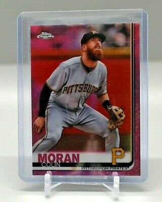 2019 Topps Chrome COLIN MORAN Pink Refractor Parallel # 65 Pittsburgh Pirates