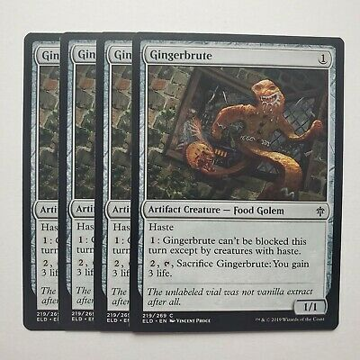 MTG Magic 4x Gingerbrute Throne of Eldraine NM