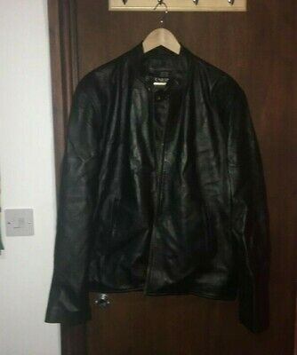 Unicorn Mens Casual Leather Jacket Black Soft Touch Leather #DI
