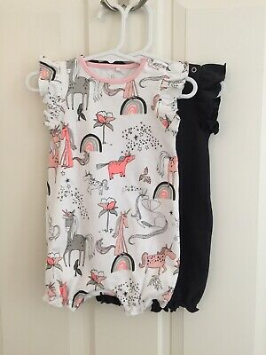 Next Baby Girl Rompers X 2 Size 3-6 Months