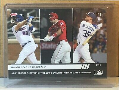 2019 Topps Now #828 Pete Alonso Mike Trout Cody Bellinger Mlb Home Run Record
