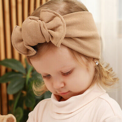 Baby Cotton Headband Hairband Soft Elastic Girls Bow Hair Accessories Gift Party