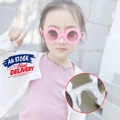 Kid Anti-UV Sunglasses Baby Eyewear Boys Goggle Flower Sun Glasses Girls