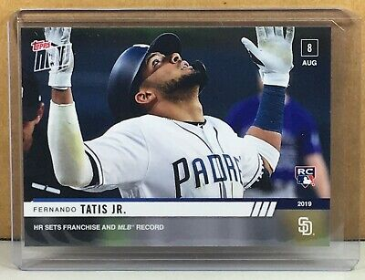 2019 Topps Now #655 Fernando Tatis Jr. San Diego Padres Rookie Print Run 642