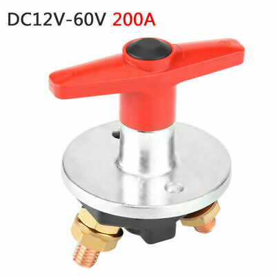 200A 12-60V Car Fixed Key Battery Isolator Disconnect Power Kill Cut-off Switch