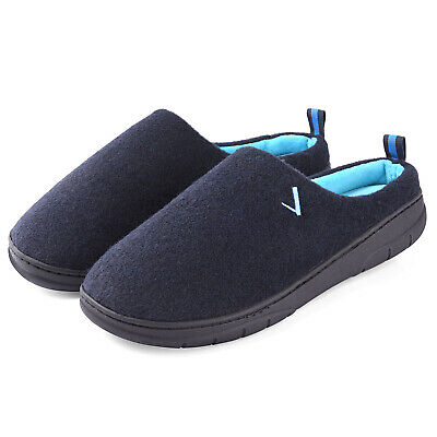 Men's Memory Foam Winter Slippers Wool-Like Plush Lining House Shoes