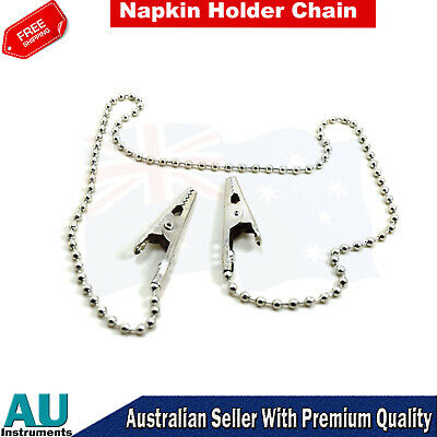 Napkin Holder Dental Lab Bib Clip Crocodile Flexible Metal Ball Chain Dentist CE