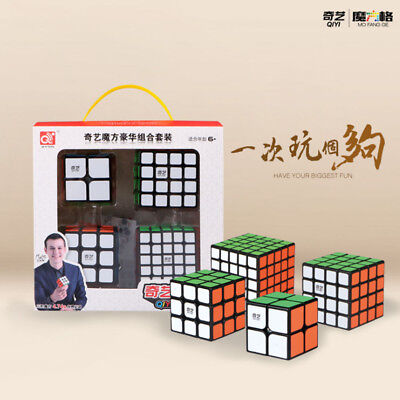 Magic Cube Set Speed Cube 2x2 3x3 4x4 5x5 Stickerless Magic Puzzle Kid Toy