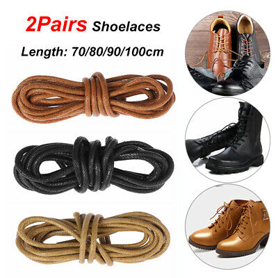 Cord 2mm x 90cm Brown Waxed Trainer Shoe Boot Laces
