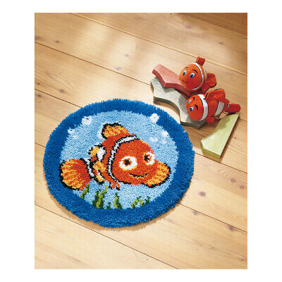 VERVACO|Latch Hook Kit: Shaped Rug: Nemo|PN-0014708