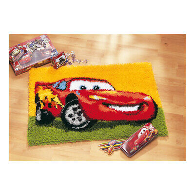 VERVACO|Latch Hook Kit: Rug: Lightning McQueen|PN-0014726