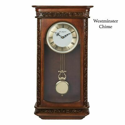 Maisonica Wooden Rosewood Pendulum Wall Clock Westminster Chime 64cm