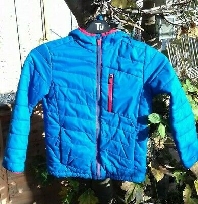 Boys Blue Lands End Packable Coat 8-9 Years