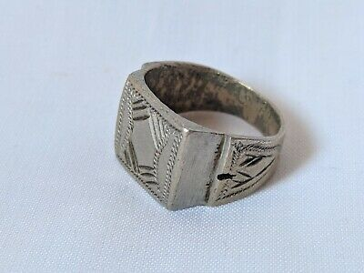 Ancient Vintage Ring Berber Metal Color Silver Old Legionary Extremely Rare