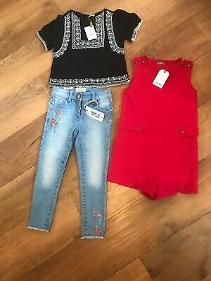 New Girls  Next Playsuit Dress Top  / Skinny Jeans Bundle   Age  6  years   £ 55