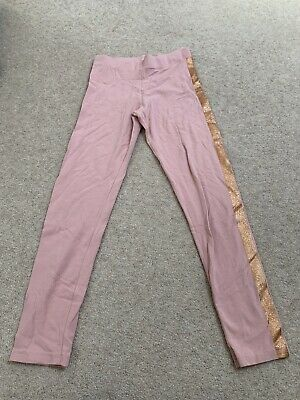 Girls Marks And Spencers Pink Leggings/trousers Age 9-10