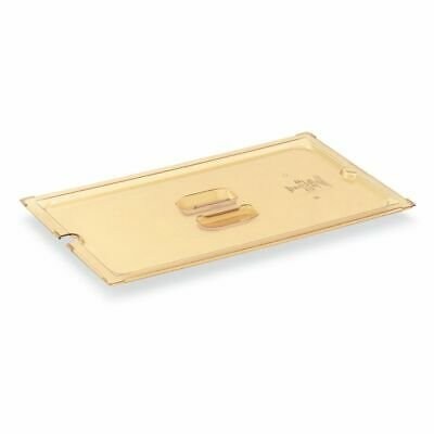 Vollrath 34200 Amber Half Size High Temp Slotted Plastic Pan Cover