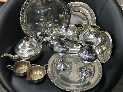 Job Lot Nice Antique Vintage Silver/Chrome Plated EPNS Items Approx 3.5kg