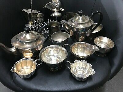 Job Lot Nice Antique Vintage Silver/Chrome Plated EPNS Items Approx 3kg