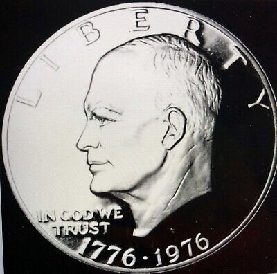 1776-1976-S Eisenhower US Silver Proof One Dollar Coin ~ BU ~ 40% Silver ~ #421