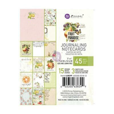 AMBER MOON A4 Paper Pad Prima Marketing 30pc Fall Autumn Tags Planner 993146 fs