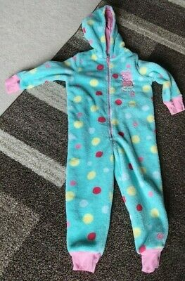 Peppa Pig fleece hooded all-in-one/onepiece Marks and Spencer age 2-3 M&S