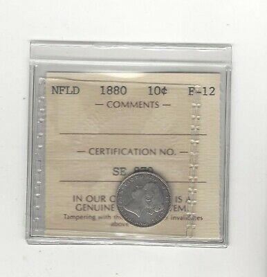1880  ICCS Graded NFLD Ten Cent **F-12**