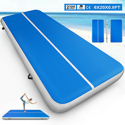 20x6Ft Airtrack Inflatable Air Track Floor Home Gymnastics Tumbling Mat GYM+Pump