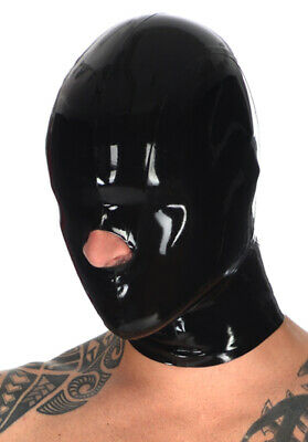 Latex Catsuit Gummi Hoods Sneezer Sniff Sexy Full Face Cool Mask Customized .4mm