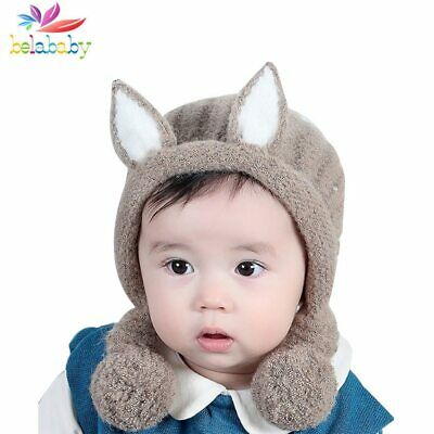 2019 Cute Ears Boys Girl Hat Knit Soft Baby Bonnet Infant Warm Winter Beanie