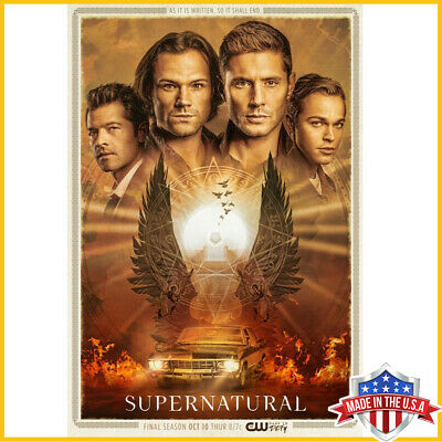 Supernatural Season 15 Paper Poster Sam & Dean Winchester Print US Supplier Art