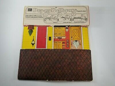 Vintage South Bend Pop Up Folding Colonial Doll House 1978