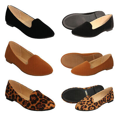 ShoBeautiful Womens Ballet Flats Round Toe Loafers Classic Slip On Comfort Shoes