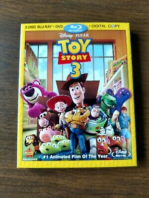 Toy Story 3 (Blu-ray/DVD, 2010, 4-Disc Set, Includes Digital Copy) w/ slip cover