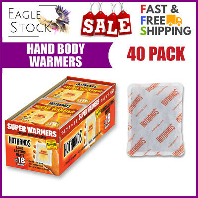 Eag Hand and Body Warmer Super HotHands Warmers 40 Count Pack Hot 18 Hours Heat