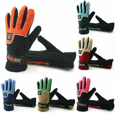 Mens Womens Winter Warm Fleece Lined Thermal Windproof Ski Gloves Sport Mittens
