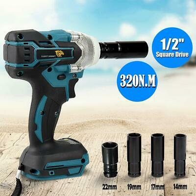 18V 320Nm Replace Cordless Brushless 1/2'' Impact Wrench Body For Makita DTW285Z