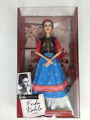 Frida Kahlo Mattel Barbie Doll Inspiring Women Series Mexican Artist NIB