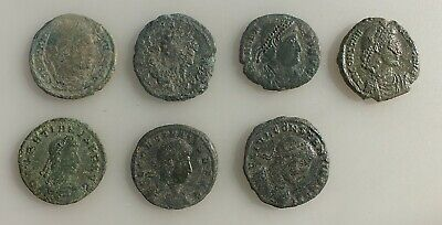 Roman AE Follis Coins.Different Emperors and mints.Lot of Seven.