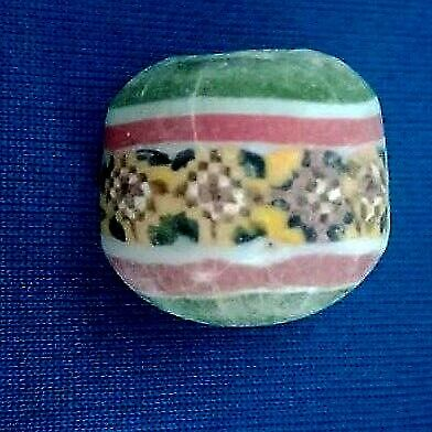 Vintage Habdmade  Islamic Glass Flower Garden Froal Mosaic Glass Eastern Bead