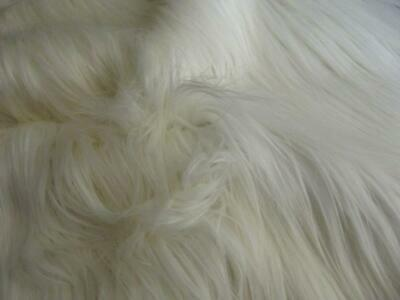 Super Luxury Faux Fur Fabric Material - EXTRA LONG IVORY