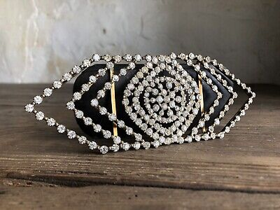 Large Art Deco French Diamante Belt Buckle Early 20thC