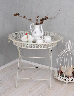 Coffee Table Side Table Country Metal Iron Tea Table Serving Tray Shabby