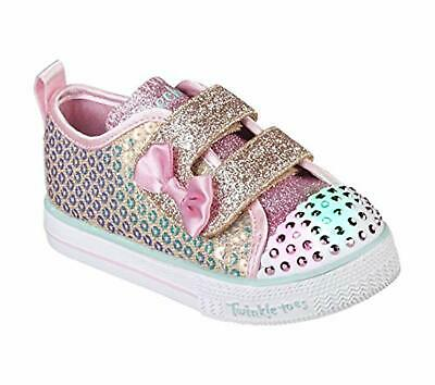 Skechers Kids Girls' Shuffle LITE-Mini Mermaid Sneaker, 8 Medium US Toddler