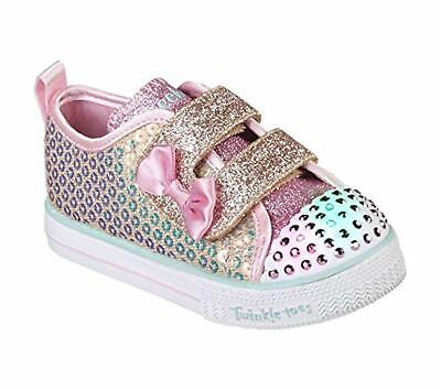 Skechers Kids Girls' Shuffle LITE-Mini Mermaid Sneaker, 9 Medium US Toddler