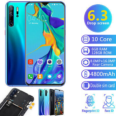 "6.3"" P36 Pro Android 9.1 Smart Mobile Phone 6GB & 128GB Face ID Unlocked 4800mAh"