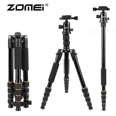 ZOMEI Aluminum Portable Tripod with Ball Head Lightweight for DSLR Camera Q666