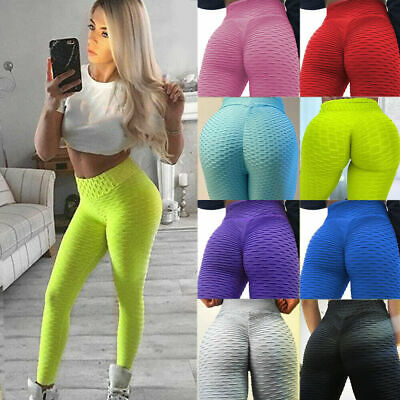 Womens Anti-Cellulite Compression Butt Lift Slim Leggings Gym Yoga Pants Trouser