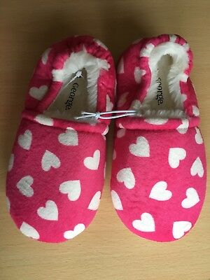 Children's Soft Slippers two pairs in Size Children's uk12/Eur31 Pink