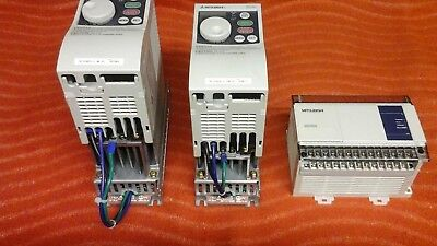 Two  Mitsubishi S500 Inverters  240v Complete with Programmable Controller